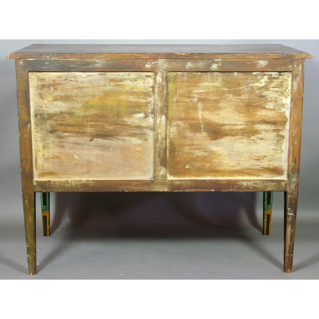 Late 19th Century Italian Neoclassical Hand-Painted and Decorated Two Drawer Chest For Sale In Boston - Image 6 of 7