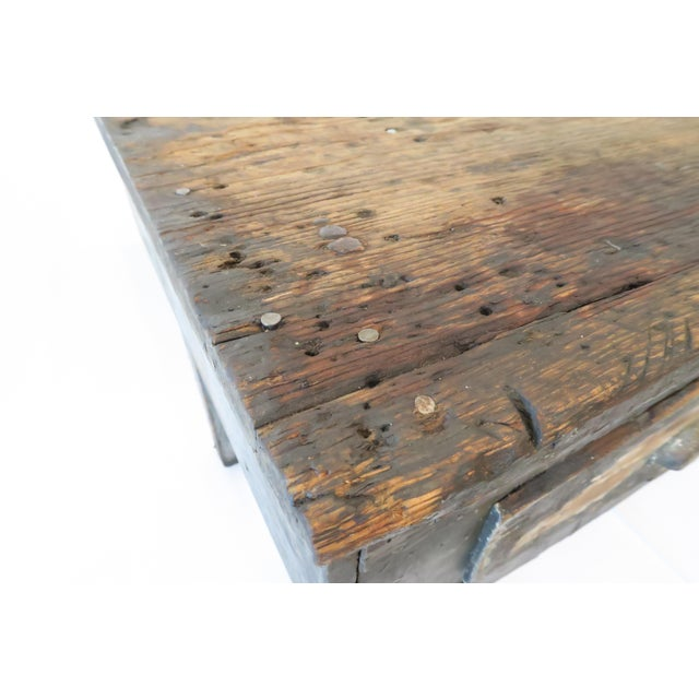Rustic Wood Work Table - Image 8 of 8