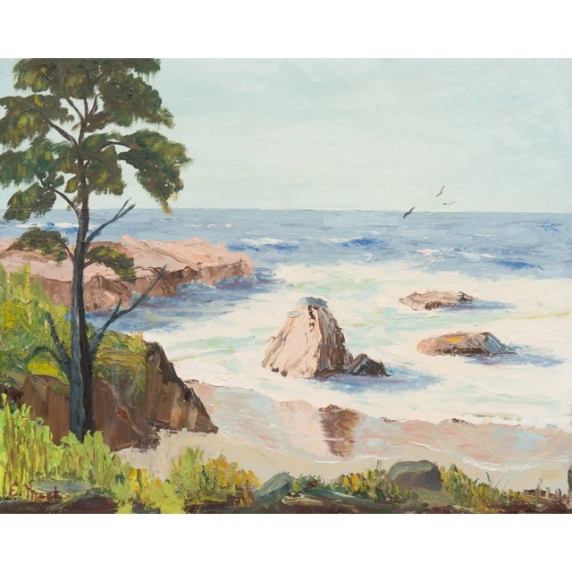 California Seascape by Evelyn Meck, 1975 - Image 1 of 6