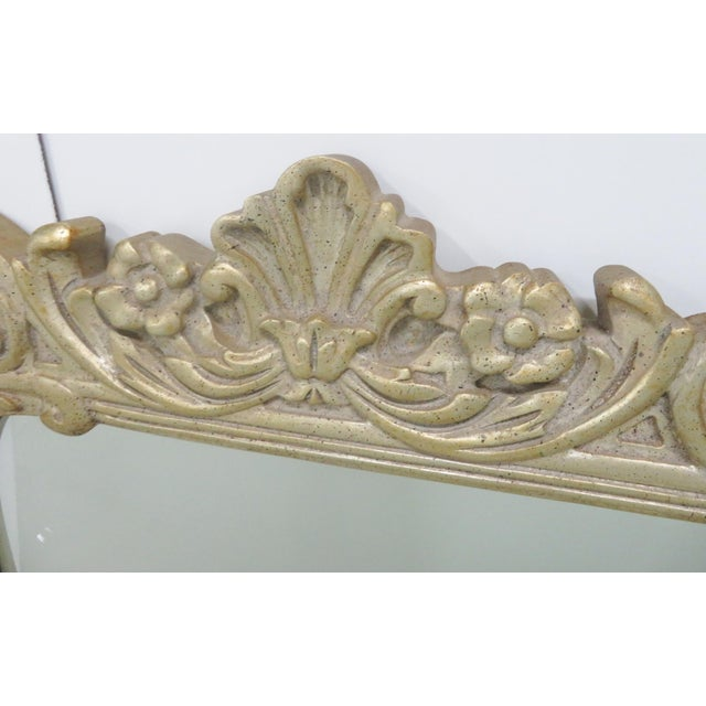French Country Silver Gilt Carved Mirror For Sale - Image 3 of 6