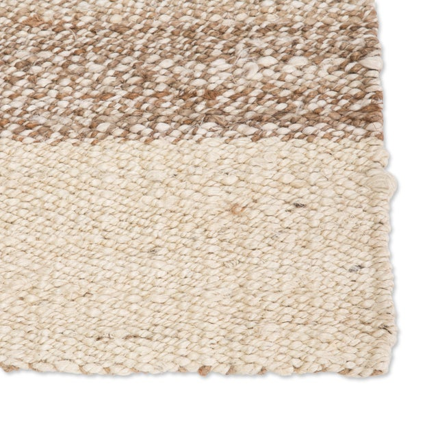 Contemporary Jaipur Living Mallow Natural Bordered White/ Tan Area Rug - 9′ × 12′ For Sale - Image 3 of 6