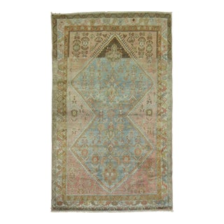 Decorative Antique Persian Malayer Rug, 4'3'' X 6'7'' For Sale