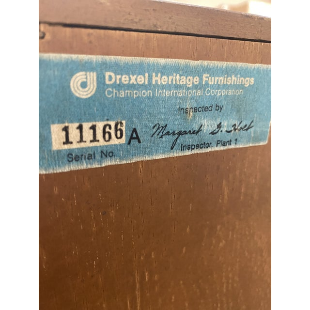 1970s 1970's Drexel Heritage Woodbriar Collection Campaign Chest For Sale - Image 5 of 12