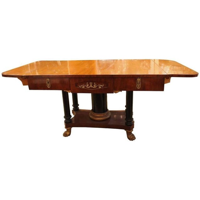 Traditional Biedermeier Drop Leaf Table - Image 2 of 9