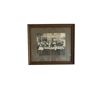 Early 20th Century Antique Black and White Family Reunion Photograph For Sale