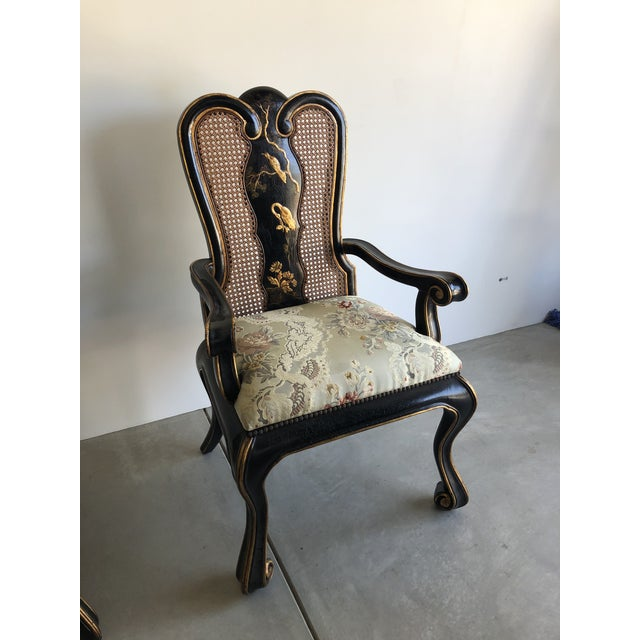Metal Vintage Chinoiserie Dining Chairs - Set of 10 For Sale - Image 7 of 12
