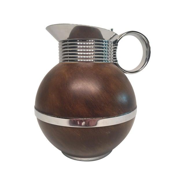 Manning Bowman Thermal Metal & Wood Pitcher - Image 1 of 6