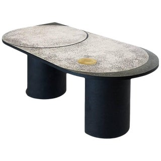 Mosaic Geometric Brass Table, Rooms For Sale