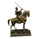 Image of Modern Brave Medieval Knight Warrior Bronze Sculpture For Sale