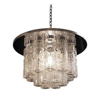Lightolier Mid-Century Crystal Tube Light Fixture
