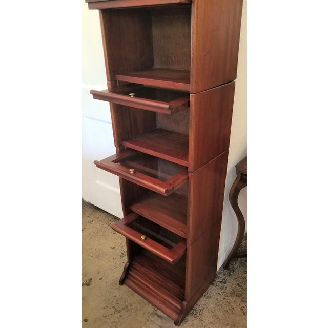 English William IV Teak Barristers Bookcase of Neat Proportions For Sale - Image 3 of 8