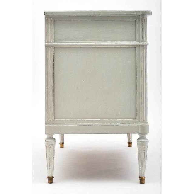 Brass Louis XVI Style French Painted Chest For Sale - Image 7 of 10