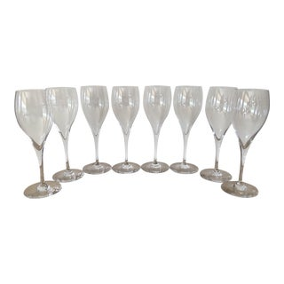 Baccarat Signed Oenologie Cristal Flutes - Set of 8 For Sale