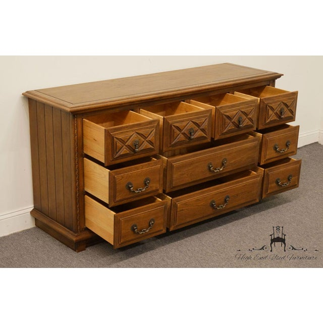 Late 20th Century Young Hinkle Country Spanish Collection Triple Dresser 7003 For Sale - Image 5 of 12