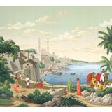 "Image of Casa Cosima Classic Jaipur Wallpaper Mural - 4 Panels 144"" W X 120"" H For Sale"