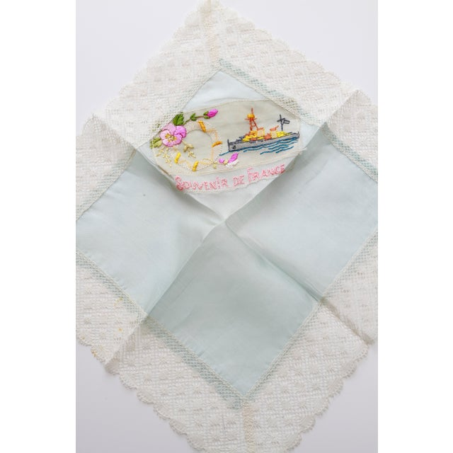 "World War I ""Souvenir De France"" Silk Handkerchief - Image 7 of 11"