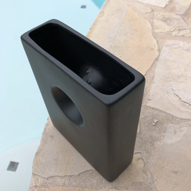 Modernist Matte Black Ilebana Vase For Sale - Image 4 of 11
