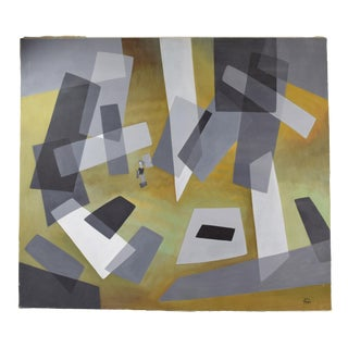 """1960's Mid-Century Modern Abstract Painting """"Abstraction"""" Dick Fort Chicago For Sale"""