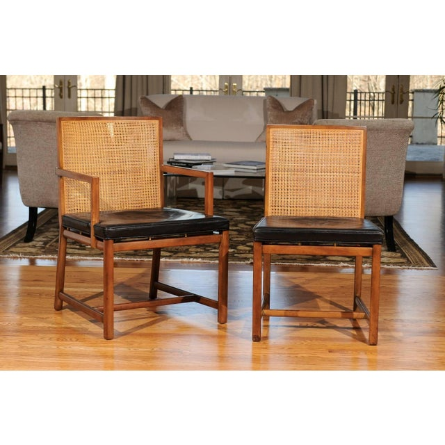 Exceptional examples from a low production series of dining chairs from the boutique New World collection by Michael...