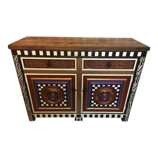 Handpainted Multicolored Drexel Sideboard