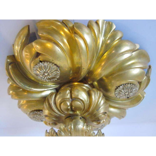 E.F.Caldwell Art Nouveau Styled Gold Gilded Light Fixture For Sale - Image 4 of 8