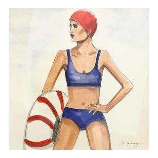 Original Beach Watercolor