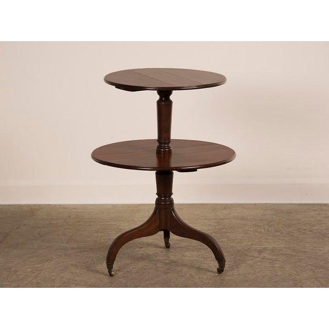 Georgian George III Period Mahogany Pedestal Table, England circa 1820 For Sale - Image 3 of 8