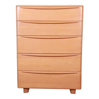 Heywood Wakefield Mid-Century Modern Highboy Dresser, 1950s For Sale