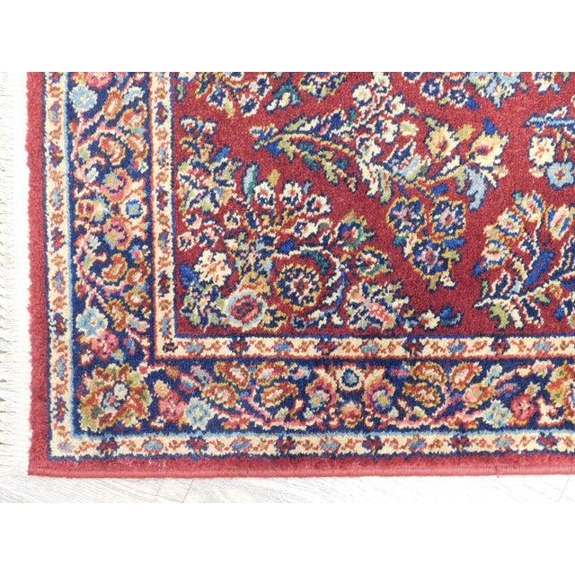 1990s Karastan Red Sarouk #785 Rug 5' x 2' Multicolor Area Throw Rug For Sale - Image 5 of 13