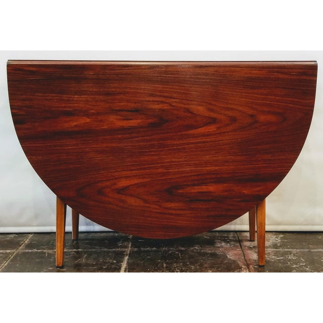 Mid-Century Danish Modern Sutcliffe of Todmorden S Form Drop Leaf Table For Sale - Image 9 of 12
