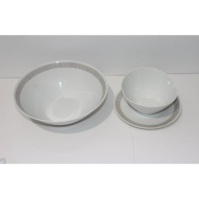 """Rosenthal Germany Mid-Century Modern Rosenthal """"Athenia"""" Dinner Service for 8 Plus Serving Pieces - 63 Items Total For Sale - Image 4 of 13"""