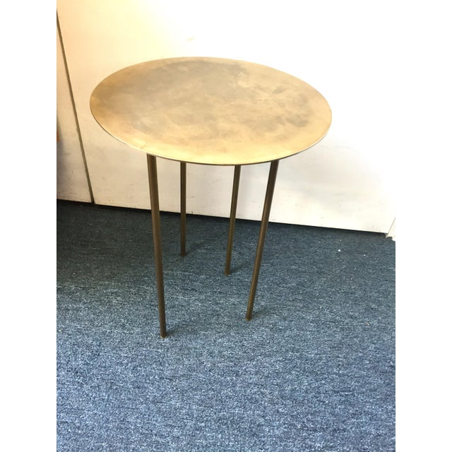 Modern Brass Side Table - Image 2 of 7