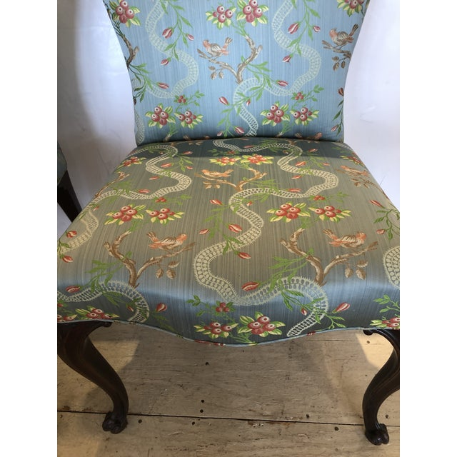 18th Century Georgian Side Chairs Dressed Up in Scalamandre Upholstery -A Pair For Sale - Image 9 of 13