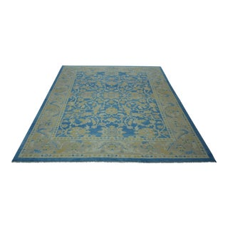 Turkish Anatolian Modern & Decorative Oushak Rug - 9′1″ × 10′6″