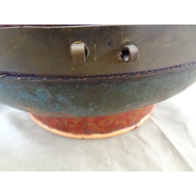 Tibetan Round Wood Box - Image 6 of 10