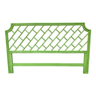 Henry Link King Size Rattan Headboard For Sale