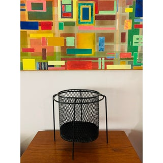 Maurice Duchin Floating Iron Mesh Wastebasket Trash Can Preview