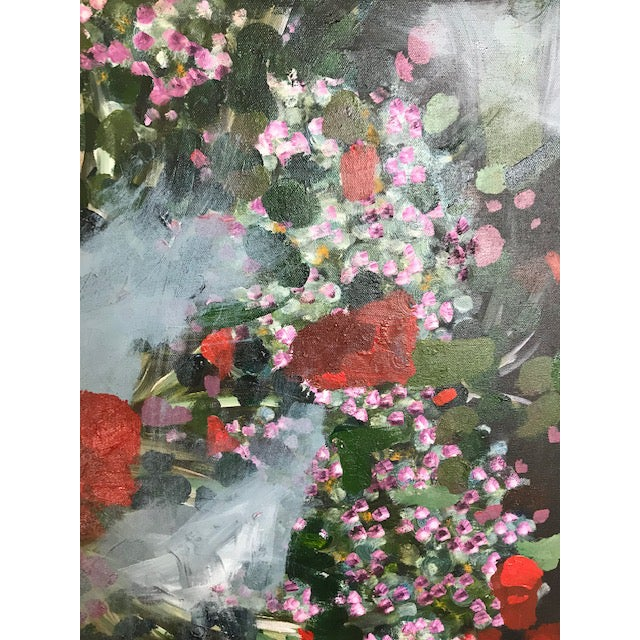 Vintage Abstract Floral Painting For Sale - Image 4 of 6