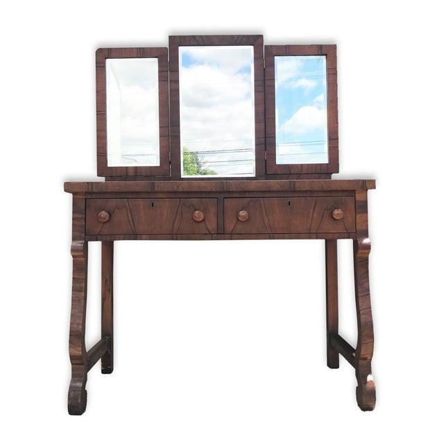 Antique American Empire Mahogany Ladies Vanity Desk - Image 2 of 5