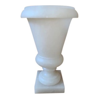 Mid 20th Century Vintage Neoclassical Alabaster Urn Lamp For Sale
