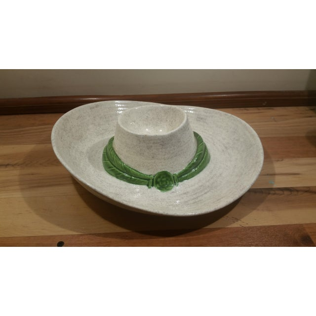 Ceramic Sombrero Chip & Dip Dish - Image 4 of 5