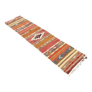 Vintage Turkish Kilim RugTurkish Kilim Runner Rug For Sale