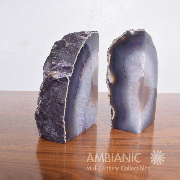Contemporary Pair of Amethyst Bookends Made in Brazil For Sale - Image 3 of 10