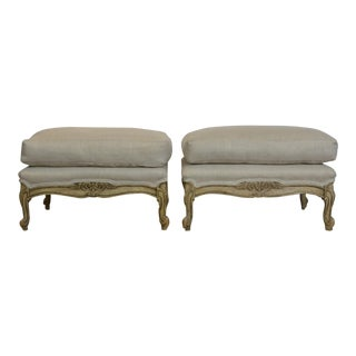1950s Vintage Louis XV Style Benches- a Pair For Sale