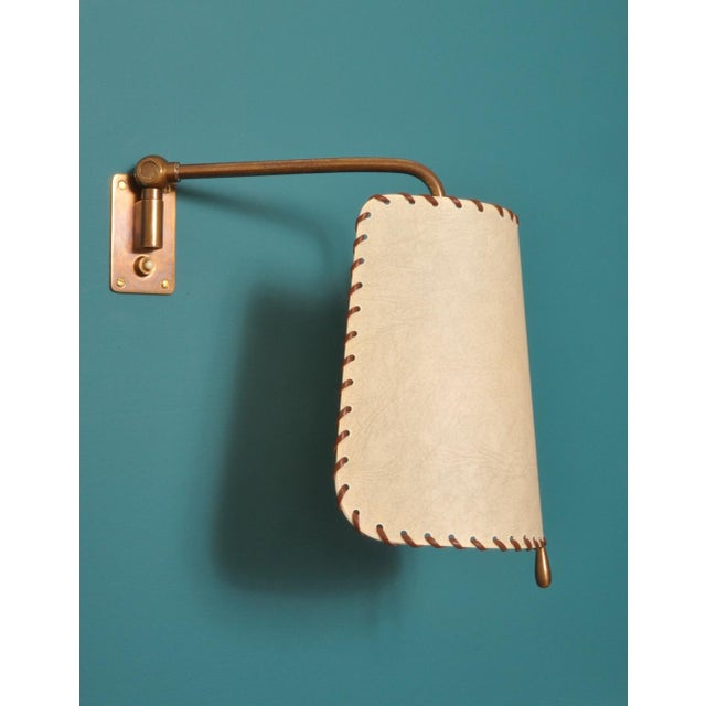Industrial Alfred Muller Wall Lamp, Switzerland 1940s For Sale - Image 3 of 10