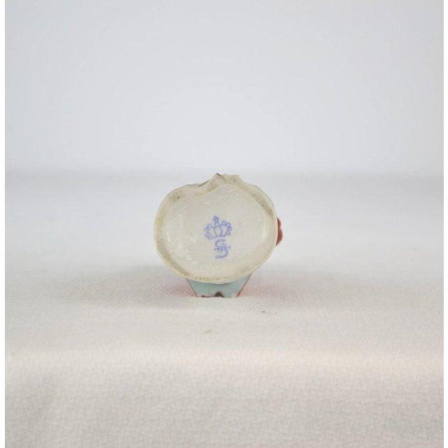 Antique Porcelain Monkey Musician, from Germany, Red Coat For Sale In Denver - Image 6 of 8