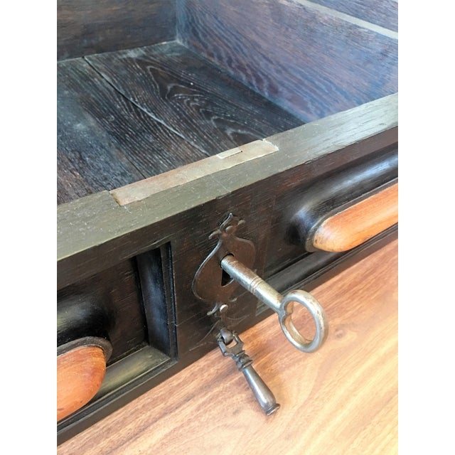 18th Century Spanish Renaissance Walnut Refectory Table. Desk. Hall Table For Sale - Image 10 of 10
