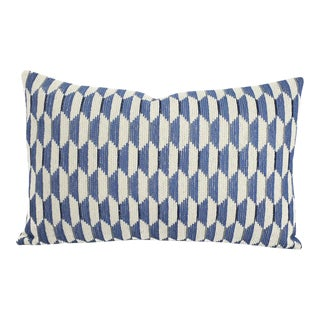 "Thibaut Optica in Sky Blue Lumbar Pillow Cover - 13"" X 20"" For Sale"