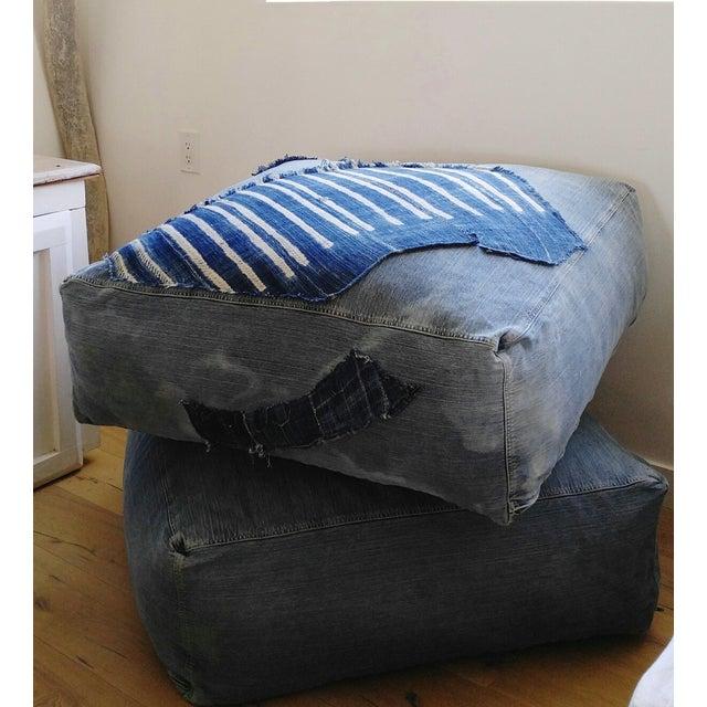 Indigo Floor Cushion Ottoman - Image 6 of 6