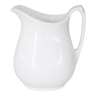19th-Century English White Ironstone Pitcher For Sale